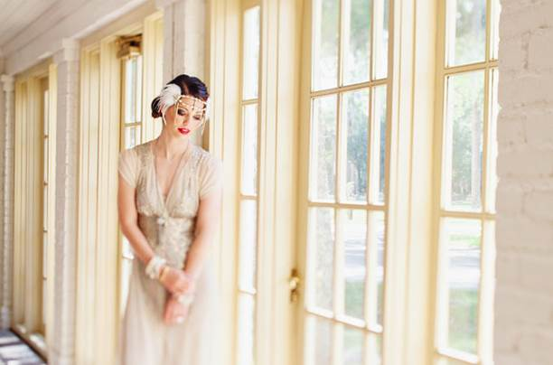 L'abito da sposa in stile The great Gatsby