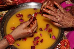 Scambio anelli nel matrimonio induista