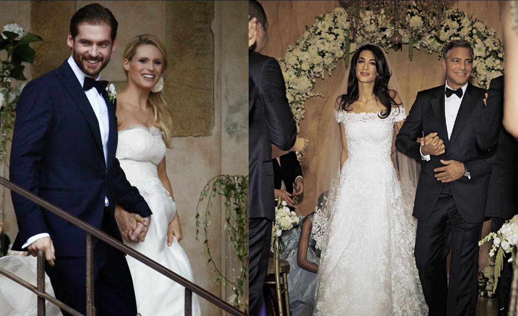 Matrimoni vip: Michelle Hunziker e Tomaso Trussardi; Amal Alamuddin e George Clooney