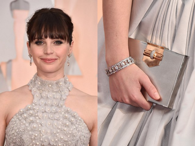 van cleef and arpels - felicity jones - oscar 2015