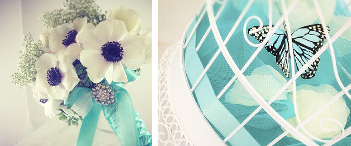 Tableau mariage in tema blu Tiffany