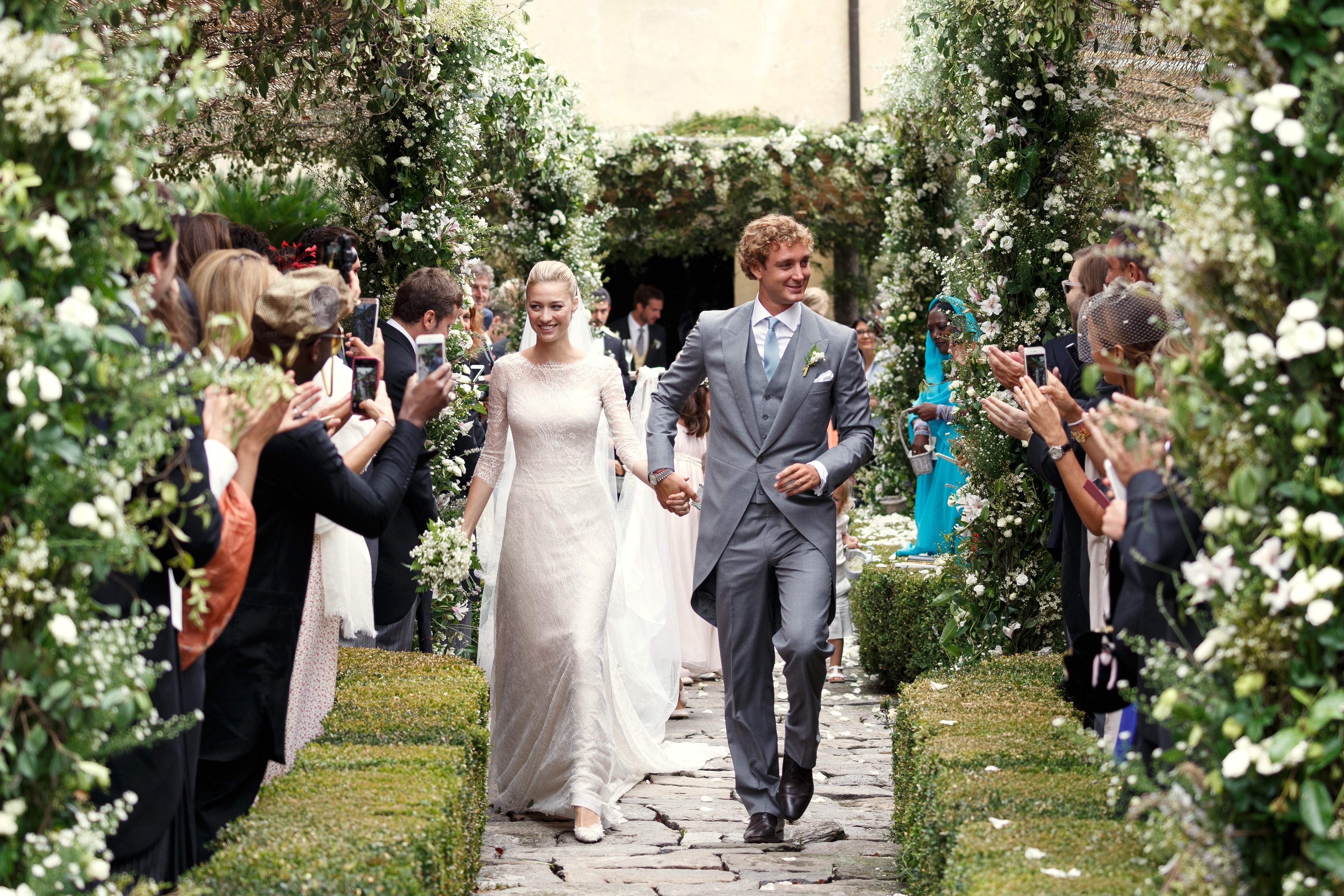 Beatrice Borromeo and Pierre Casiraghi sposi
