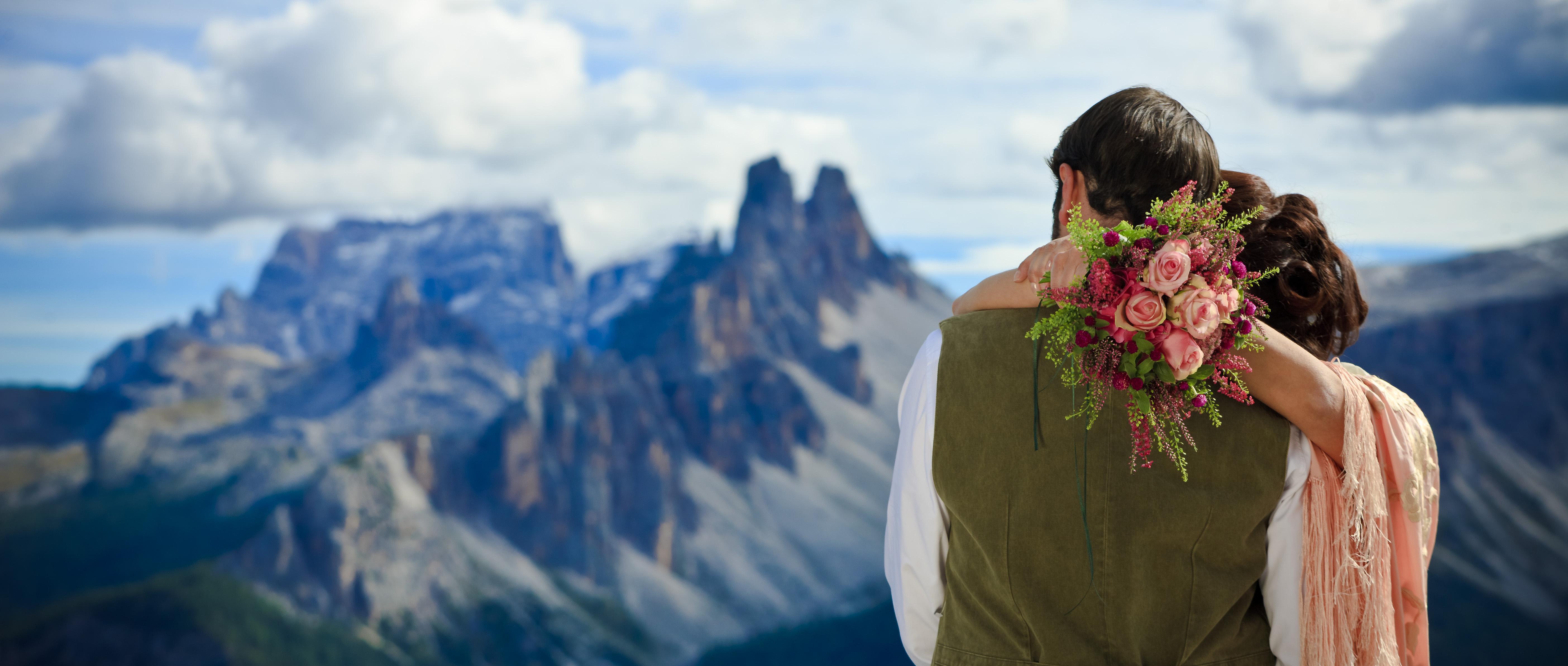 matrimonio in inverno sulle Dolomiti