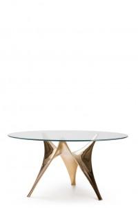molteni&c + Fosters - tavolo arc con base in bronzo