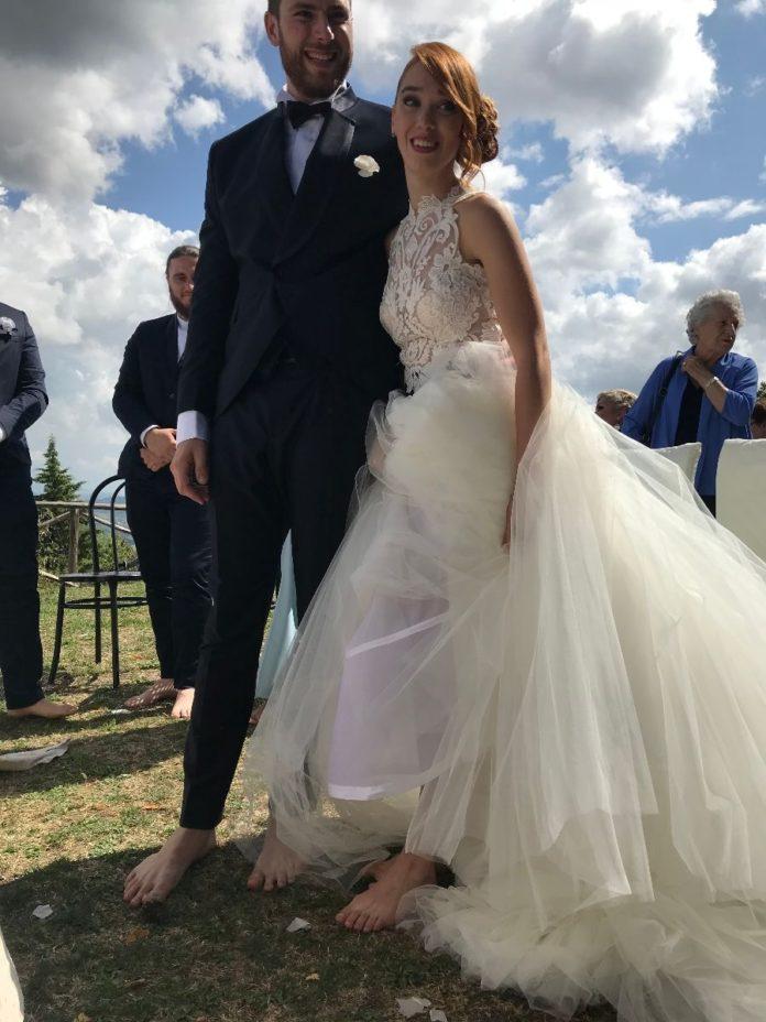 Matrimonio a piedi nudi in montagna