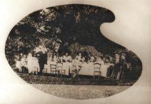 Banchetto sotto l'albero monumentale il Castagno dei Cento Cavalli - 1923