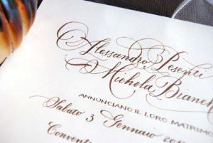 Partecipazioni scritte a mano - ph. by Carta a mano delle Ande
