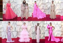 abiti rosa oscars 2019