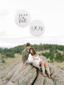 annuncio data matrimonio con palloncini